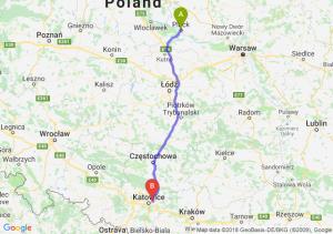 Trasa Płock - Sosnowiec