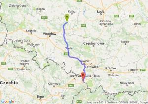 Trasa Antonin - Cieszyn