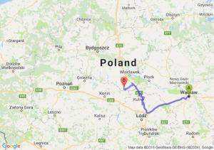 Warszawa - Błenna (kujawsko-pomorskie)