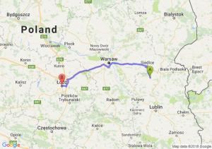Trasa Łuków - Łódź