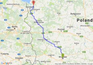 Trasa Wrocław - Goleniów