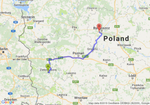 Trasa Zielona Góra - Białe Błota