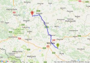 Jelcz-Laskowice (dolnośląskie) - Wschowa (lubuskie)