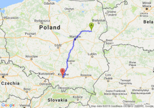 Trasa Ciechanowiec - Bronowice