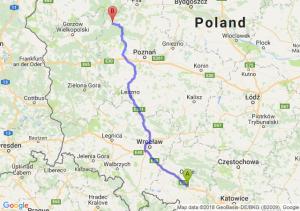 Trasa Dąbrówka Górna - Wieleń