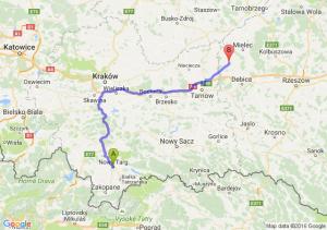 Nowy Targ (małopolskie) - Radomyśl Wielki (podkarpackie)