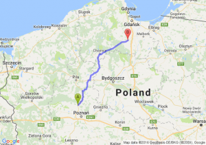 Oborniki (wielkopolskie) - Starogard Gdański (pomorskie)