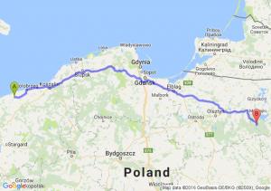 Trzebiatów (zachodniopomorskie) - Ruciane-Nida (warmińsko-mazurskie)
