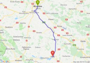 Trasa Wrocław - Nysa