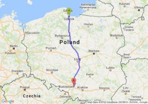 Trasa Gdańsk - Sosnowiec