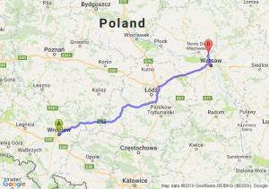 Wrocław (dolnośląskie) - Legionowo (mazowieckie)