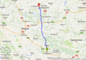 Trasa Dąbrówka Górna - Rudy