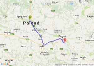 Trasa Toruń - Góra Kalwaria