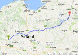 Rogoźno (wielkopolskie) - Olecko (warmińsko-mazurskie)
