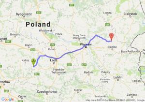 Trasa Błaszki - Sokołów Podlaski