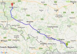 Limanowa (małopolskie) - Czerwieńsk (lubuskie)
