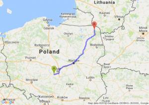 Trasa Łask - Suwałki