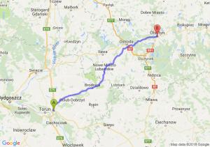 Trasa Lubicz Dolny - Olsztyn