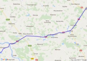 Trasa Bąkowiec - Radzyń Podlaski