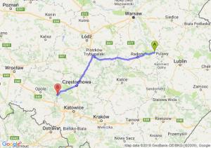 Trasa Bąkowiec - Zawadzkie