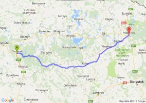 Olsztynek (warmińsko-mazurskie) - Augustów (podlaskie)