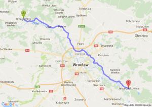 Brzeg Dolny (dolnośląskie) - Jelcz-Laskowice (dolnośląskie)