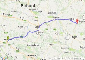Wrocław (dolnośląskie) - Międzyrzec Podlaski (lubelskie)