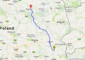 Radzyń Podlaski (lubelskie) - Barczewo (warmińsko-mazurskie)