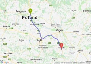 Trasa Lubicz Dolny - Radom