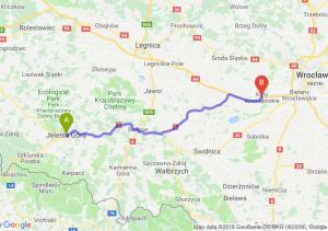 Trasa Jelenia Góra - Kąty Wrocławskie