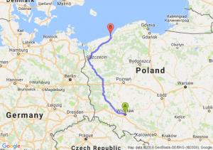 Wrocław (dolnośląskie) - Mielno (zachodniopomorskie)