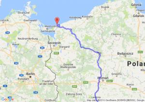 Wrocław (dolnośląskie) - Międzywodzie (zachodniopomorskie)