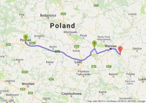 Poznan - Sochaczew (mazowieckie) - Kołbiel (mazowieckie)