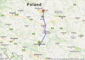 Trasa Częstochowa - Gostynin