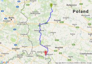 Trzcianka (wielkopolskie) - Kamienna Góra (dolnośląskie)