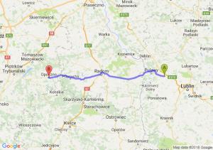 Trasa Kurów - Opoczno