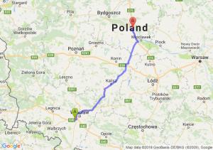 Trasa Biskupice Podgórne - Ciechocinek