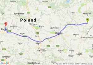 Bielsk Podlaski (podlaskie) - Murowana Goślina (wielkopolskie)