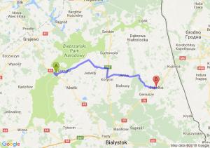 Trasa Osowiec-Twierdza - Sokółka