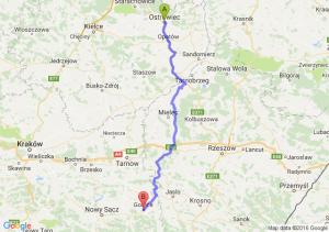 Ostrowiec Świętokrzyski (świętokrzyskie) - Gorlice (małopolskie)