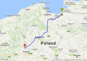Braniewo (warmińsko-mazurskie) - Oborniki (wielkopolskie)