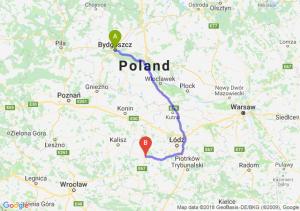 Trasa Bydgoszcz - Sieradz