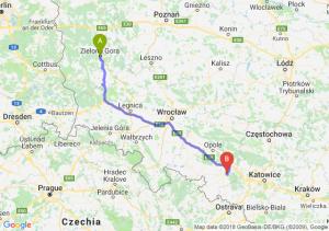 Trasa Zielona Góra - Kędzierzyn-Koźle