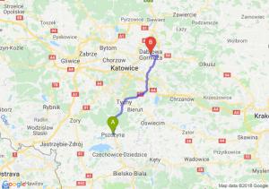 Trasa Pszczyna - Dąbrowa Górnicza