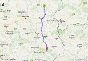 Trasa Ciechanowiec - Biłgoraj