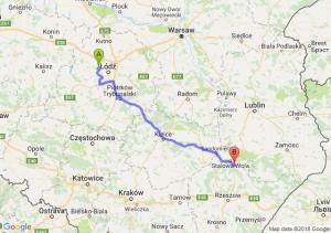 Trasa Aleksandrów Łódzki - Nisko