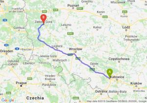 Trasa Gliwice - Zielona Góra