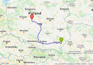 Trasa Jarosław - Konin