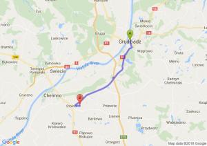 Trasa Grudziądz - Stolno