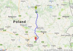 Trasa Olsztynek - Rawa Mazowiecka